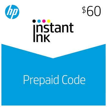 COSTCO MEMBERS: HP Instant Ink $60 Prepaid Card E-Delivery (Online Only) $47.99