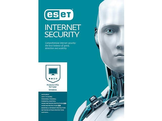 ESET Internet Security 2017 - 3 PCs $20AC - Newegg - Antivirus $19.99