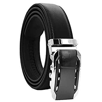 "Ratchet leather belt for men 28"" to 44"" waist $9.20 ac shipped at amazon.com"
