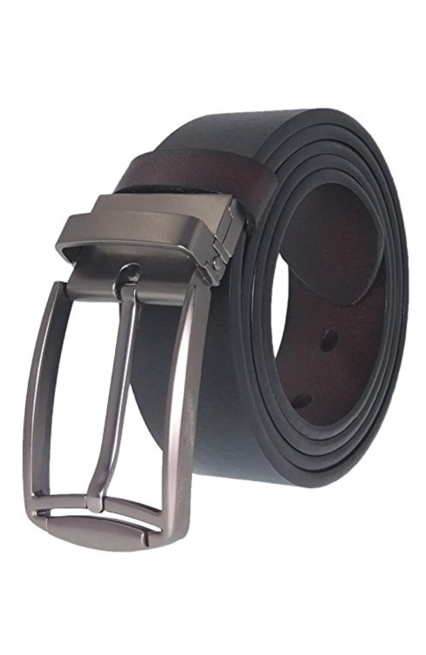 Grain leather reversible belt various styles $10 amazon prime