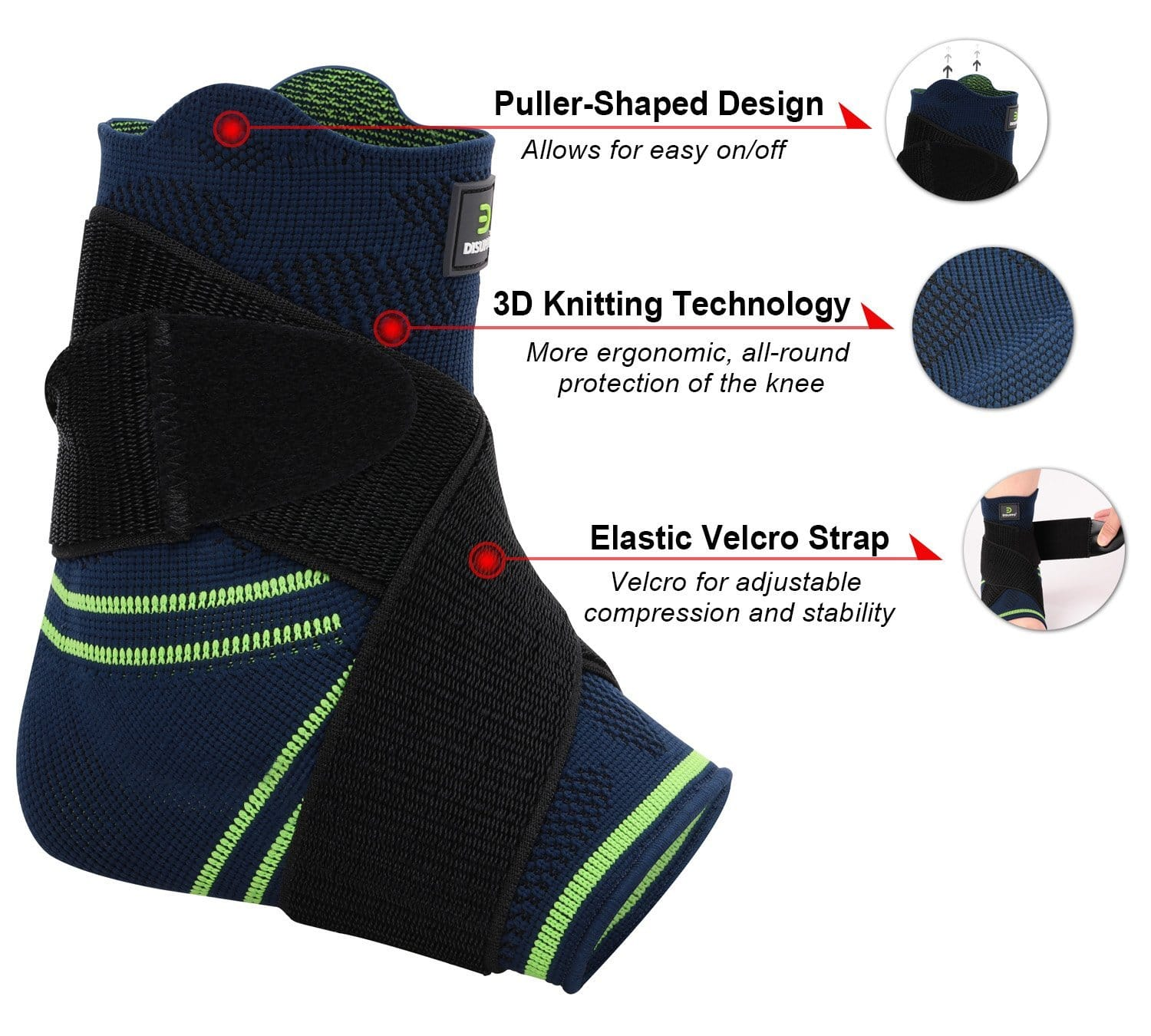 Ankle brace with adjustable compression and gel padding $6.50 prime shipping at amazon
