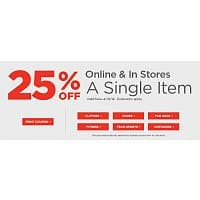 Sports Authority Deal: Sports Authority Coupon 25% a single item exp 4/19/14 - exclusions apply*
