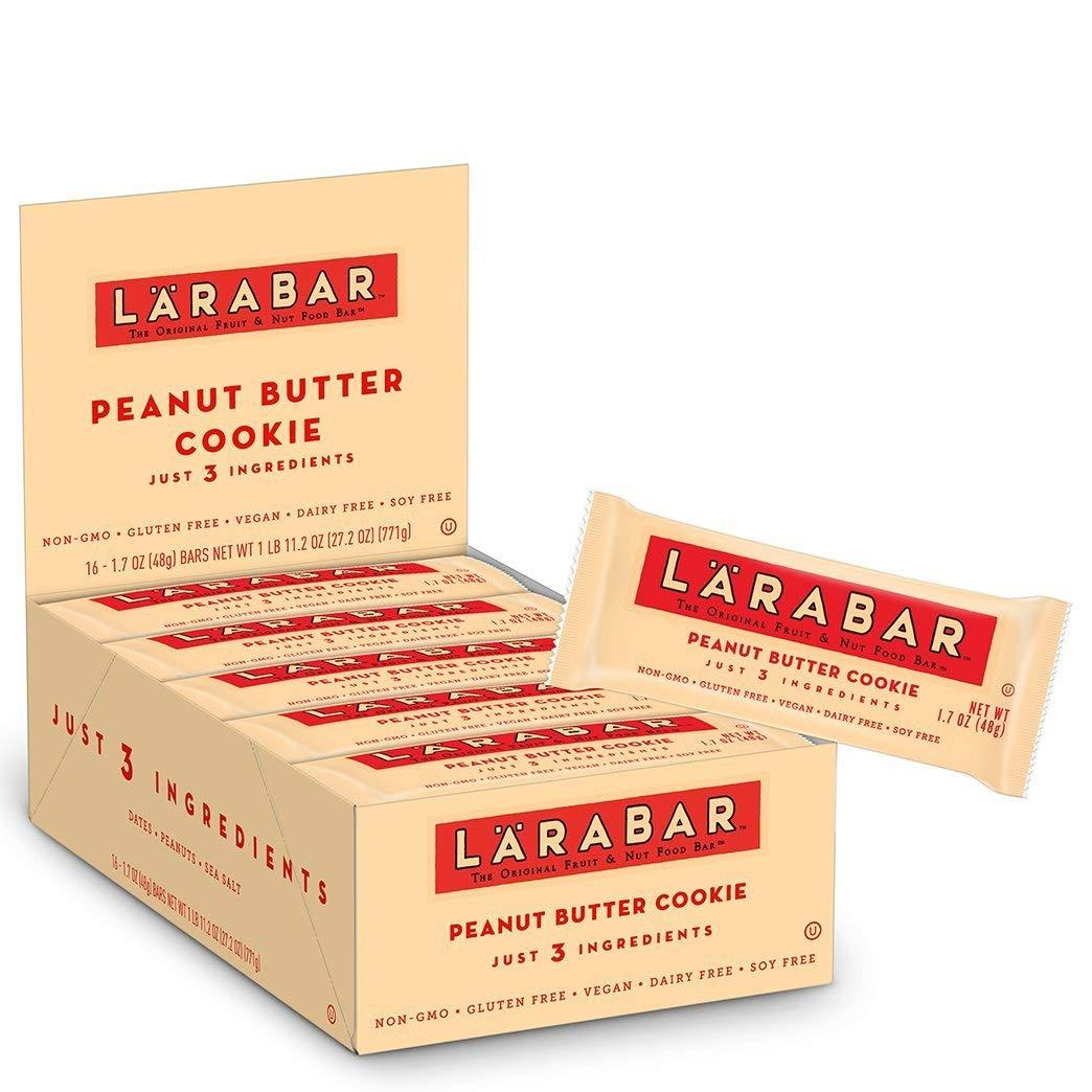 16-Count Larabar 1.7 oz Gluten Free Peanut Butter Cookie Bars  $9.31
