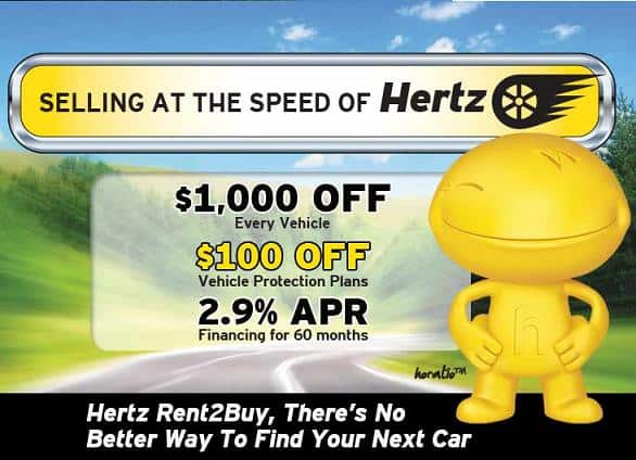 Hertz Car Sales $1,100 off Hertz used rental cars