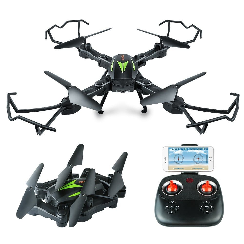 WiFi Foldable Quadcopter Drone with 720P HD 2MP Camera  for $32