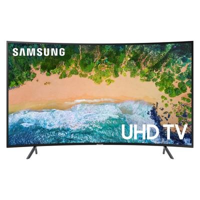 Samsung 55 inch Smart Curved UHD TV - Black (UN55NU7300FXZA)