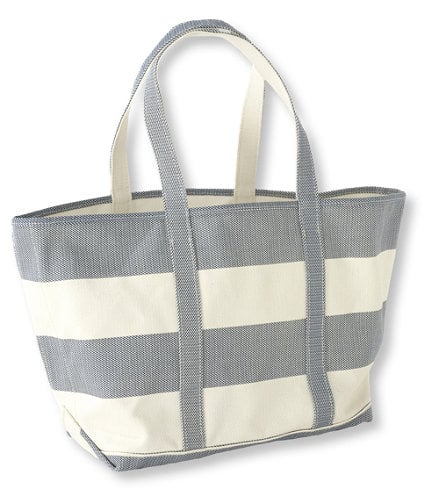 LLbean.com Daily Deal Striped Canvas Tote $19.99 Shipped (orig 49.95)