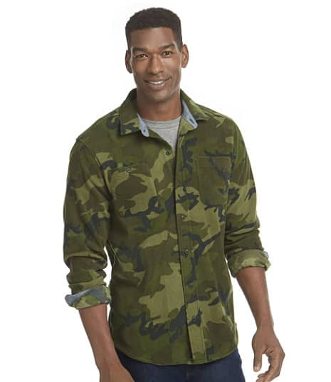 LLBean.com Men's Slightly Fitted Camouflage Fleece Shirt $19.99 Shipped (orig $60) Today Only