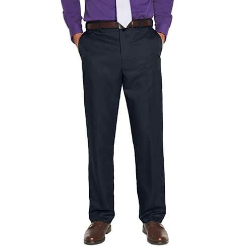 Kohls Cardholders 3 Pair Men's Big & Tall Croft & Barrow® Classic-Fit Flat-Front No Iron Microfiber Dress Pants $9 Each Shipped