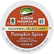 Staples: Green Mountain 18ct Pumpkin Spice K Cups Or Dunkin Donuts Pumpkin Spice 16ct K Cups $5.99 + Free Store Pick Up