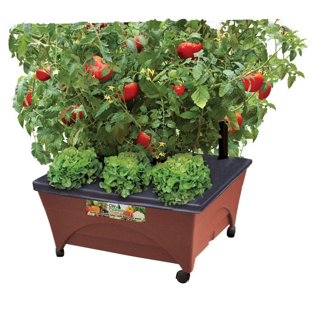 "Home Depot City Pickers 24.5"" x 20.5"" Terra Cotta Raised Bed Planter $19.98 + Free Store Pick Up"