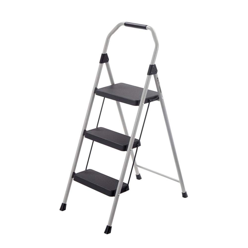 Phenomenal Gorilla Ladders 3 Step Compact Steel Step Stool 225Lb Pdpeps Interior Chair Design Pdpepsorg