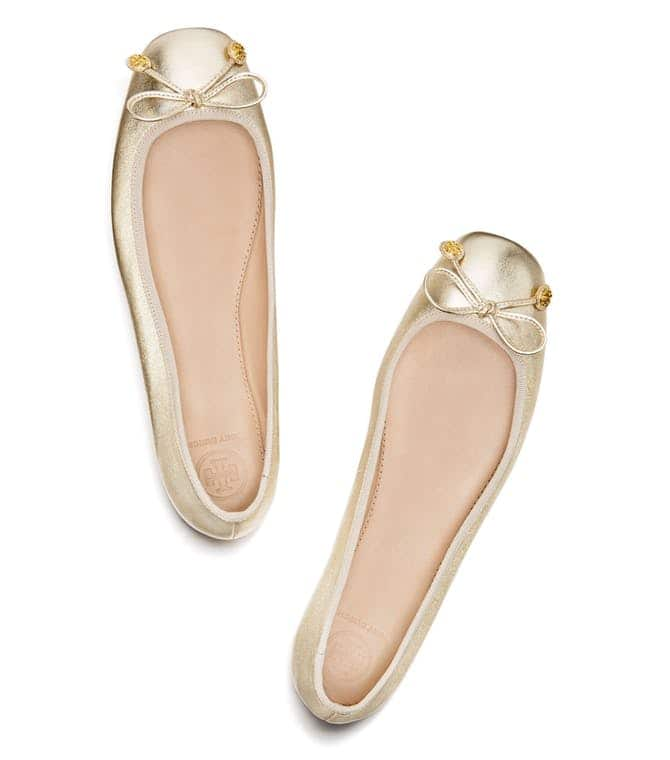 Tory Burch Laila Metallic Leather Driver Ballet Flat $87.57, Wedge Flip  Flop $30.87 & More