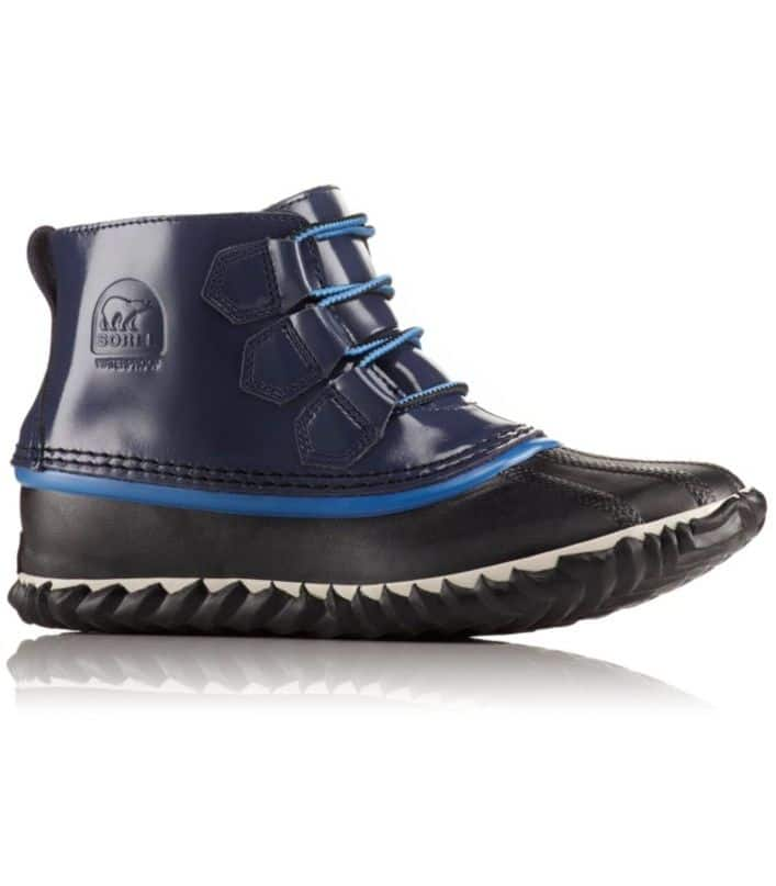 Sorel Women's Waterproof Patent Leather Out N About Rain Boot $55.92  - 3 Color Choices & More + shipping
