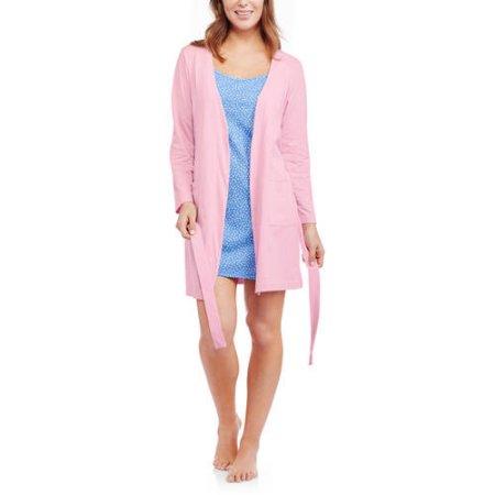 Walmart: Hanes Women's Knit Sleep Robe and Knit Cami Sleep Chemise 2 Piece Set $7 + Free Store Pick Up