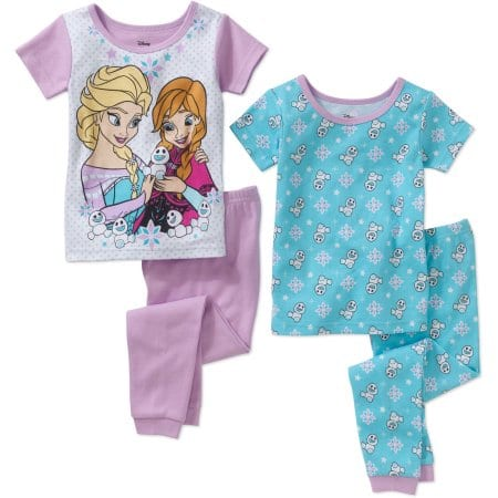 91af35dea 4-Piece Kids Pajama Sets: Toddler Girl Disney Frozen - Slickdeals.net