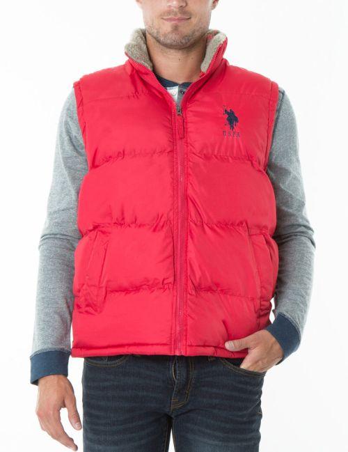 US Polo Association Men's Signature Vest w/Sherpa Collar $16.99, Classic Puffer Vest $19.99 & More + Free S/H