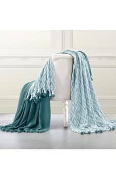 """Hautelook: Set of 2 Amrapur 50"""" x 60"""" Cotton Throws $17.97 Various Colors & Styles + Free S/H"""