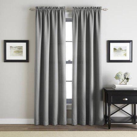Walmart Addison Twill Poletop Curtain Panel Grey 42x63 $3.85 + Free Store Pick Up