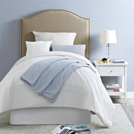 Walmart: Better Homes and Gardens Grayson Linen Upholstered Twin Headboard Oatmeal or Pink $49, F/Q Size Grey or Beige $79 + Free S/H