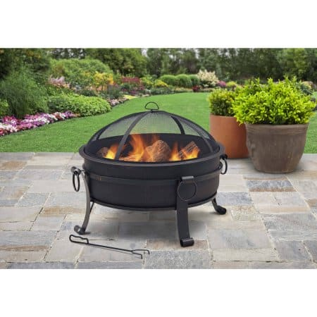 "Better Homes & Gardens 30"" Cauldron Fire Pit With Pull-Ring"