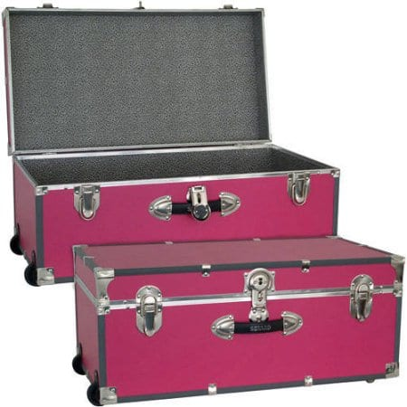 """Seward™ Collegiate Collection 30"""" Footlocker Trunk with Wheels $30.25 Various colors + Free S/H"""