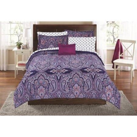 Walmart Mainstays Scarf Paisley Bed In A Bag Bedding Set 8 Pc Queen $21.17, 8 Pc Dahlia Full Size Set $20 & More + Free Store Pick Up