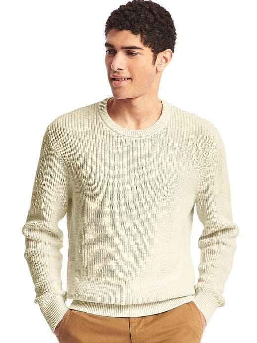 GAP.com Men's Off White Shaker Sweater $9.70 + Free S/H Today Only