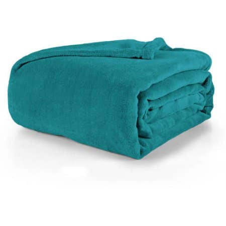 "Walmart Mainstays Plush Throw/Blanket Dark Teal 66"" x 90"" $5.23 + Free Store Pick Up"