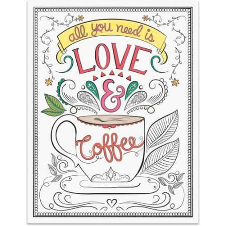 Walmart: Mainstays 13x10 Color Your Own Wall Art, Frame Included, Love & Coffee 2 Pack $3.02 + Free Store Pick Up
