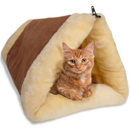 Oxgord Beige/Brown Fleece 2-in-1 Cat Pet Bed Tunnel $8.95 + Free S/H