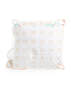 """TJ Maxx 20"""" x 20"""" Wedding Countdown Pillow $5, Decorative Plush Throws $10 & Lots More + Free S/H No Min Sitewide Today Only"""
