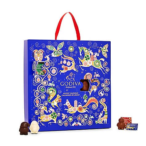 Godiva Holiday Chocolate Advent Calendar 2017, 24 pc.$17.50, Assorted Chocolates 30pc $17.99 + Free S/H $25+ Rewards Members
