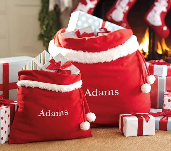 Personalized Red Fleece Santa Bag Small $13, Large $20, Personalized Pencil Cases ffrom $4.99 + Free S/H Today Only
