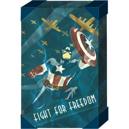 "Walmart: Captain America 20"" x 30"" Distressed Canvas Art $5.01 + Free Store Pick Up"