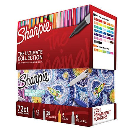 Office Depot: Sharpie® 72-Piece Ultimate Pack, Fine/Ultra Fine Point, Assorted Colors $29.99 + Free Store Pick Up