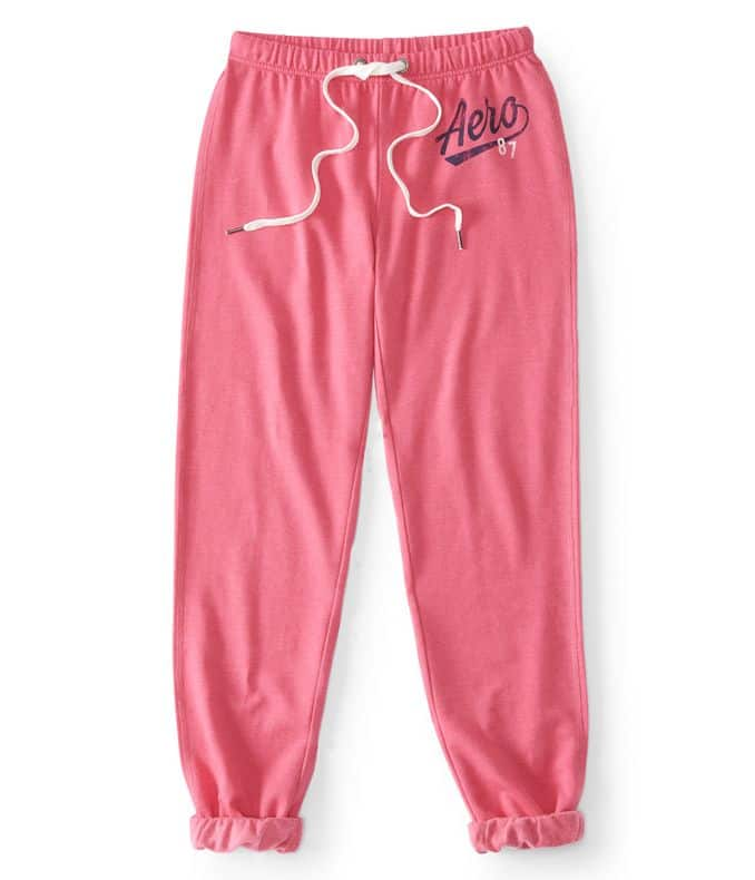 Aeropostale Clearance: Girls 87 Cinch Sweatpants $6.99, Guys Skinny Stretch Corduroy Pants $10.49 & More + Free S/H $50+