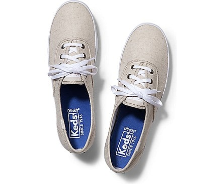 Keds.com Women's Champion Linen Sneakers $15.96, Kate Spade Blue NY Champion Sneakers $23.96 & More + Free S/H