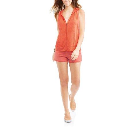 Walmart: Women's Athleisure Burnout Sleeveless Full-Zip Hoodie & Shorts Set $4, Fitspiration 2 Pc Bike Short Set $4 & More + Free Store Pick Up