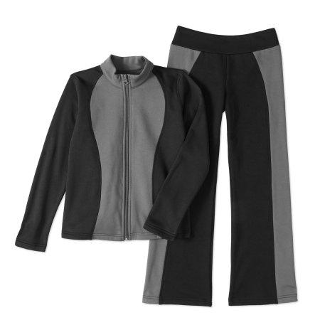 Walmart: Rainbeau Girls' Tech Fleece Track Suit $6 Grey or Black, sizes 4-16, + free store pick up