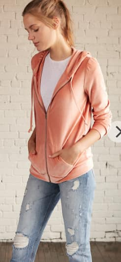 Express.com Extra 50% Off Including Clearance, Women's One Eleven Velour Pink Hoodie $15.49 & More + Free S/H
