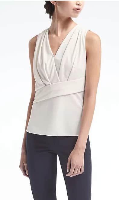 Banana Republic Extra 50% Off, Including Sale Items, Women's One Shoulder Top $19.99, Crossfront Draped Shell $13.50 & More + Free S/H