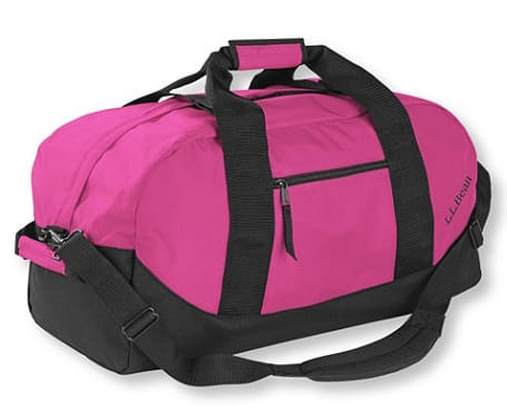 LL Bean Adventure Duffle, Medium $22.49 Pink or Purple + Free S/H Today Only