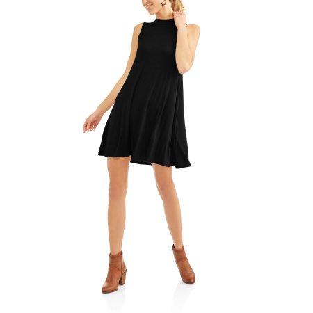 Walmart: Faded Glory Women's Sleeveless Mock Neck Dress, Black or Grey $5 + Free Store Pick Up