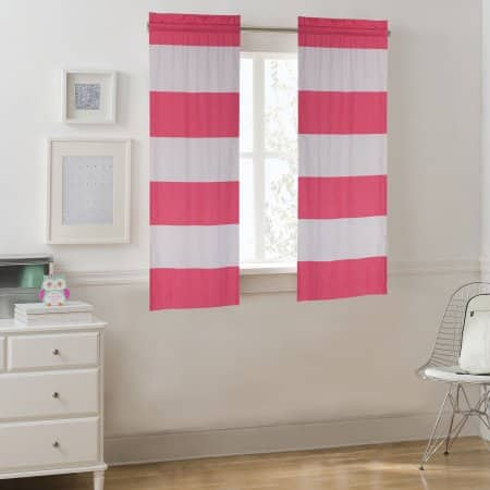Walmart: Your Zone Cabana Stripe Curtain Panel, Set of 2, Various Lenghts/Colors, $3.15 + Free Store Pick Up