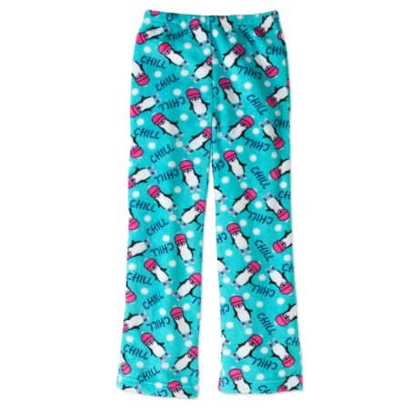 Walmart: Gyrl Co Girls' Plush Sleep Pants $2 + free store pick up