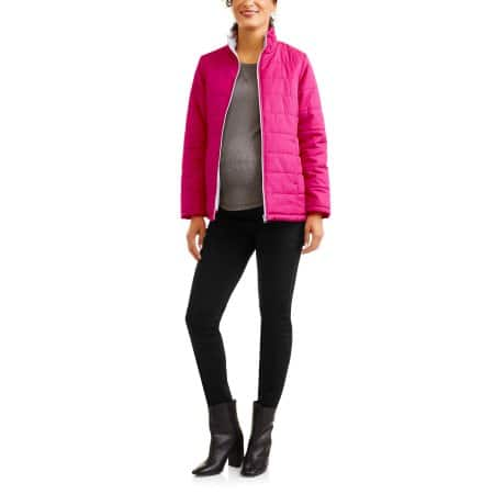 Walmart: Faded Glory Maternity Lightweight Bubble Jacket $5, Various Colors + free store pick up