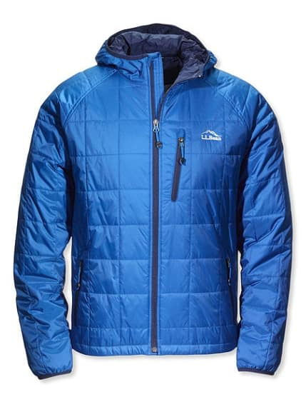 Ll Bean Daily Deal Men's PrimaLoft Packaway Hooded Jacket $67.49 (M-XXL) + Free S/H