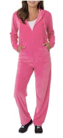 Walmart: Danskin Now Women's Velour Hoodie and Pant Tracksuit $9 (xs-xxl) + Free store pick up