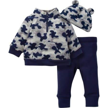 Walmart: Gerber Baby Boy Microfleece Zip Jacket, Pant & Hat 3pc Set $5.50 (nb-24m) + store pick up